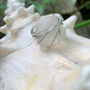 Jewelry - Sterling Silver Sea Glass Ring